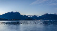 Lake Como by night (fede_gen88) Tags: winter italy lake como mountains water lights evening nikon italia village snowy lombardia lombardy lakescape lierna d5100