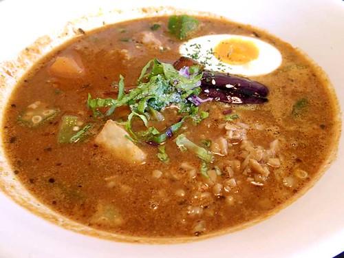 オクラと納豆と鶏挽肉Curry