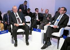 The Future of the Military: Rowsch N. Shaways and Espen Barth Eide (World Economic Forum) Tags: switzerland davos wef che worldeconomicforum annualmeeting congresscenter s299 sessionid63213 am2015