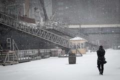 South Street Seaport in snowstorm Juno (LeeHoward) Tags: nyc winter snow newyork snowstorm southstreetseaport blizzard juno