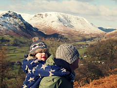 (sph wds) Tags: family winter boy baby snow digital walking fun countryside child grasmere country lakedistrict olympus carry digitalphotography thelakedistrict epl1 olympuspenepl1