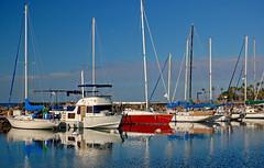 Pleasure Boating (jcc55883) Tags: ocean sky reflection boats hawaii nikon oahu alamoana yabbadabbadoo d40 alawaiyachtharbor nikond40