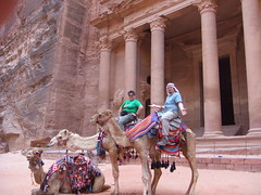 In Front of El Khazneh / The Treasury, Petra (Aidan McRae Thomson) Tags: architecture facade ancient petra treasury jordan classical antiquity elkhazneh nabatean