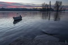 Alba della memoria (_milo_) Tags: italy lake sunrise canon lago eos boat barca italia alba h2o maggiore acqua manfrotto angera 18135 treppiede 60d isolino
