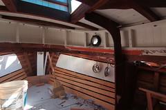 IMG_3949 - Port Hadlock WA - Northwest School of Wooden Boatbuilding - 2013 Repair and Restoration - HOBO - vee berth (BlackShoe1) Tags: wood port boat washington olympicpeninsula wash pacificnorthwest wa jefferson woodenboat washingtonstate hobo woodboat boatrepair countyeast porthadlockwa boatwooden hobohobohobo hadlockjefferson countymv repairwood tugwoodtug