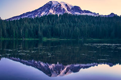 Beckoning (West Leigh) Tags: travel lake snow mountains reflection nature forest sunrise landscape dawn washington paradise dream wanderlust explore experience mountaineering pacificnorthwest wilderness naturalbeauty nationalparks mtrainier wander discover travelphotography