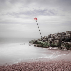 Tilted (catkin314) Tags: longexposure light sea sky beach water rocks groyne highcliffebeach