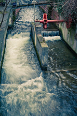 Kanal (surfingstarfish) Tags: city winter urban water flow town wasser exposure wasserfall fliesen bach stadt kanal freiburg fluss strom belichtung langzeitbelichtung stdtisch gewsser begradigt