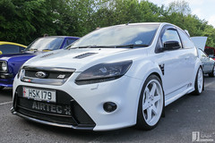 Ford Focus ST | HSK 179 (Jgalea14) Tags: white black ford sports lines car wheel st canon focus automobile outdoor sunday may engine tire lancashire vehicle preston motor windshield phantom rim 179 meet supercar 22nd hsk winger fulwood 100d pscm hsk179