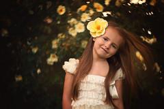 (gottte) Tags: flowers summer portrait girl yellow wind petzval