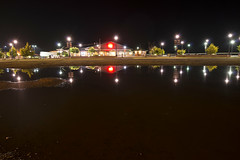Puddle (Curtis Gregory Perry) Tags: california longexposure light reflection night puddle nikon parking lot eureka d800e