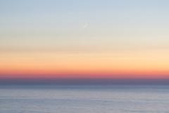 Sunset with the moon (betinho_had) Tags: ocean trip travel moon travelling sol praia beach portugal nature colors beautiful stars landscape mar amazing europa europe colorfull lisboa traveller adventure prdosol viagem lua eurotrip ericeira viajar aventura suntet