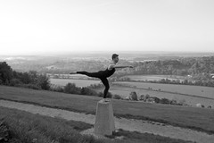 The Landscape of Dance (PenelopeStrawberry) Tags: england dance surrey lanscape boxhill contemporarydance maledancer