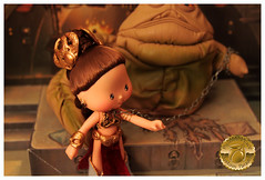 Princess Leia Slave Girl Custom 14 (Plum's Place) Tags: starwars princessleia strawberryshortcake ooakdoll slavegirlleia retro80s retrotoys plumsplacecustoms plumsplace