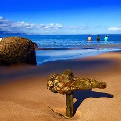 Old Iron (otterdrivernw) Tags: beach hawaii maui wailea iphone iphone6