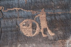 Petroglyphs / Potash Road Site (Ron Wolf) Tags: archaeology utah fremont nativeamerican shield petroglyph anthropology rockart blm anthropomorph anthromorph