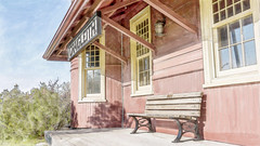 The Craigleith Heritage Depot (in Explore 16.05.28) (paulstewart991) Tags: architecture canadian trainstation watercolour craigleith georgiantrail canon70d