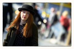 Out of the sunshine (Frank Fullard) Tags: street ireland red portrait dublin irish sun black hat sunshine hair candid redhead redhair fullard
