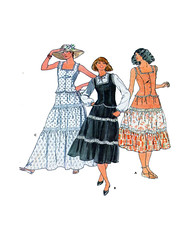 Butterick.6053.f.WEB (findcraftypatterns) Tags: three pattern top sewing or country victorian fair skirt front womens button western midi boho maxi tier camisole butterick 6053