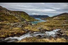 Kamøyfjord (Blitzknips) Tags: norway norwegen landscape landschaft seascape skandinavien sonya77 a77 alpha77 wasser water wasserfall waterfall fjord felsen rocks sky meer nordkapp magerøya insel island langzeitbelichtung longexposure wolken clouds ocean paisaje
