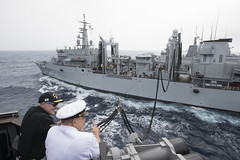 Secretary of the Navy observes an underway replenishment while aboard USS Mason. (Official U.S. Navy Imagery) Tags: marinecorps navy raymabus secnav secretaryofthenavy travel spending budget partnerships presence people power government