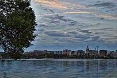 Working Towards that Perfect Skyline Shot (Zilla27) Tags: summer lake skyline wisconsin capitol madison mendota