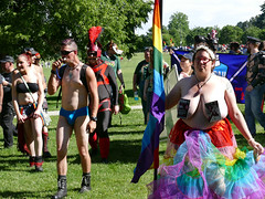 Denver PrideFest (Colorado Sands) Tags: people woman usa male men female america festive us women colorado guys denver parade celebration lgbt heavyweight pasties supersized 2016 pridefest cheesmanpark gaycommunity bigwomen happypride leatherboys sandraleidholdt rmla denverpride denverpridefest rockymountainleatheralliance pridefest2016