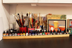 Inks and Brushes (skipmoore) Tags: winter artist open brushes studios sausalito inks icb