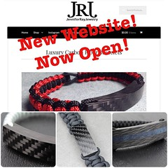 Grand Opening of http://bit.ly/25otjQT 25% off with coupon code: grandopening I have finally completed my own website! It has been a long time in the making and with it finally being done. I am celebrating with a site wide sale of 25% off! But it is for o (JenniferRay.com) Tags: ray jennifer jewelry carbon custom fiber exclusive paracord jrj instagram
