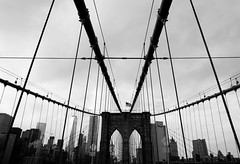 Pray for Joy (FlavioSarescia) Tags: newyorkcity newyork nyc ny brooklynbridge brooklyn walk architecture usa sky famous city cityscape blackandwhite blackwhite hss