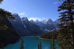 Lake Moraine (okidoki35) Tags: lake canada canon outdoor xs canadianrockies lakemoraine tokina1116 1000d