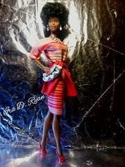 Black Barbie (krixxxmonroe) Tags: red white black photography with dress ryan d barbie sash monroe era and ira superstar iconic mattel striped styling krixx