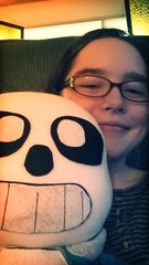 Selfie with Sans (Black Rose Bride) Tags: plushie sans undertale cartoonskeleton