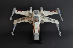 T-65 X wing (3) (Inthert) Tags: star starwars fighter ship lego luke r2d2 xwing wars skywalker moc t65 sfoils