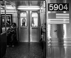 The observer (Zugerin) Tags: street new york man subway streetphotography observing