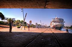 Braemar atracado en el puerto de Sevilla. (mgarciac1965) Tags: espaa ro puerto sevilla andaluca spain guadalquivir barco turismo braemar atraque nikond5200