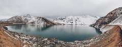 Embalse del yeso (Pablo.Barros) Tags: chile santiago lake snow landscape lago panoramic paisagem cerro panoramica neve viagem montanha montain montains cajondelmaipo