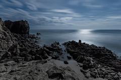 _DSC5331d (Pisniz) Tags: moon night noche mar playa luna cielo nocturna lunallena olas seda almera cabodegata cala largaexposicin calabarronal