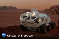 Ares 7 Rover (Bricking It) Tags: the martian watney nasa rover mars