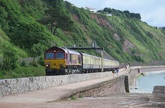 Route 66 (Stapleton Road) Tags: diesel railway seawall locomotive teignmouth class66 66070