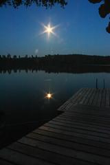 IMG_8921-1 (Andre56154) Tags: moon lake water night see mond wasser nacht sweden schweden ufer spiegelung steg