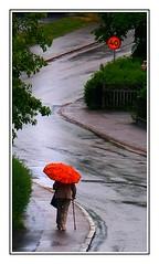 Regn p Gamla rnsgatan 1 (Brje Trttne) Tags: street rain umbrella sweden regn dalsland paraply ml