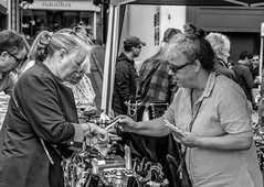 No escaping the tally.-0459 (p_venn) Tags: guernsey market black white street people d750