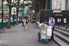 Somewhere in Bangkok (langthangdaydo) Tags: life street city travel summer people urban food man color men film cooking fruit thailand cuisine baking asia pavement bangkok streetphotography tasty streetlife fresh delicious sidewalk human traveling cart sell culinary nutrition traveler cinamatic sellsometing streetcusine