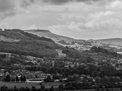 Steeton and beyond (tubblesnap) Tags: bw white black landscape pepper scenery fuji yorkshire salt pot pinnacle lightroom keighley cowling silsden steeton xs1 tubblesnap