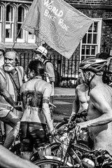 The Cyclists (Le monde d'aujourd'hui) Tags: world street london bike naked ride protest cycle worldnakedbikeride wnbr