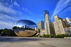 Eye of the city (bgauger14) Tags: park city travel blue sky chicago skyline illinois bean milleniumpark cloudgate chicagobean
