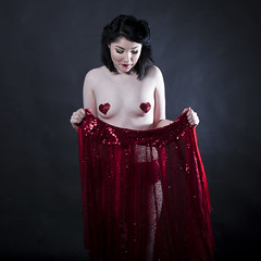 Mousey Worth (AberrationObscura) Tags: mouse foxandmouse mouseyworth burlesquue burlesque fashion fetish latex handmade sequin red bra pasties boobs model studio colour pentax pentaxmediumformat mediumformat pentax645 alt alternative girl
