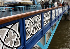 London - Tower Bridge (JanvanSchijndel) Tags: world road city travel bridge blue vacation portrait england sky people white color london tower art tourism water lines metal architecture composition geotagged interesting pov details famous country hill perspective visit location info information geotag