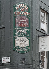 Angel & Crown Pub - St Martin's Lane (Canon 500D & 85mm F1.8) (markdbaynham) Tags: street new city urban food london westminster st angel canon garden eos pub drink traditional capital 85mm row covent lane crown metropolis f18 dslr pint martins ef wc2 500d apsc